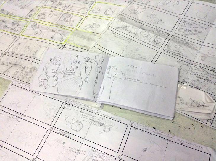 生徒さんが描かれたラフ画