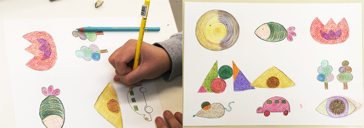 色鉛筆の受講風景