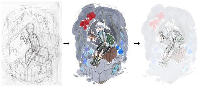 ヴィネット風イラスト制作過程のご紹介 アートスクール大阪 ブログ
