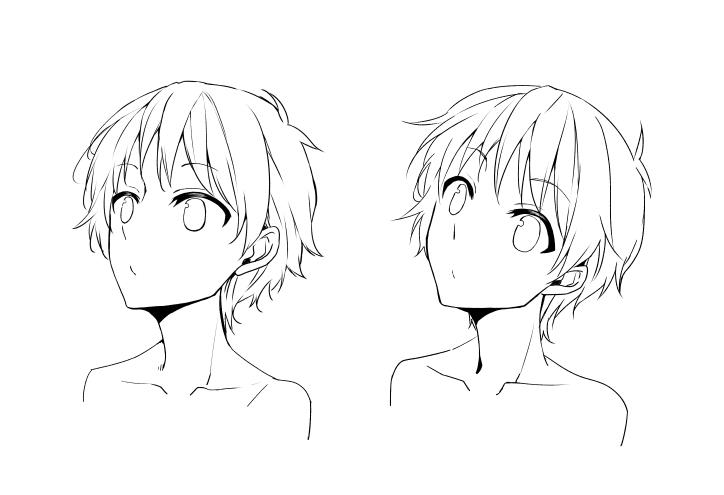 上を向いた顔の描き方について アートスクール大阪 ブログ