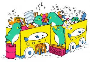 □ゴミ捨て場□ 新学期にはロッカーに放置された画材なども捨てられてたりして宝探し気分です。
