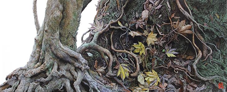 松田一聡 写実 樹木